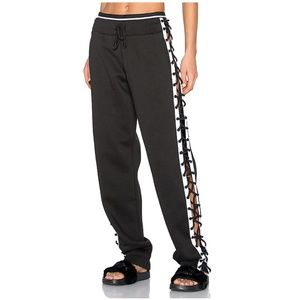 Fenty Puma Lace Up Sweat Pant black and white XS